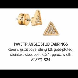 Chloe + Isabel Jewelry - Triangle Pave Stud Earrings C+I